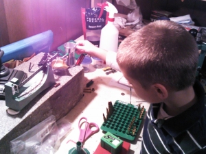 Working At the Reloading Bench