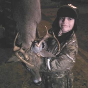 Garrett and his buck
