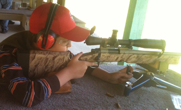 10 year old dreams of competing in long range shooting for Honey island shooting range