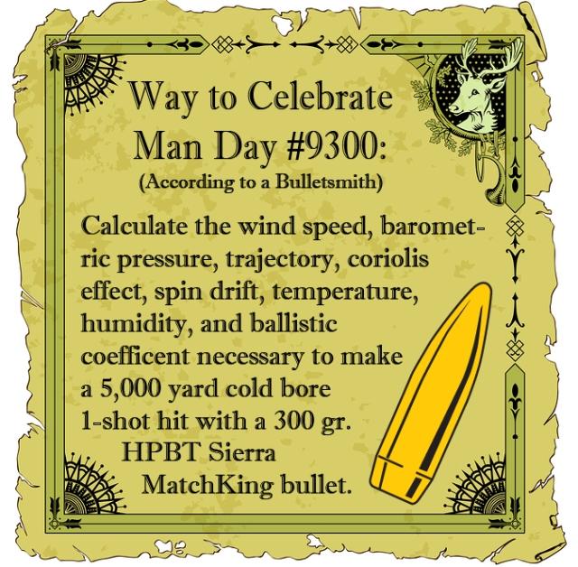 Way To Celebrate Man Day #1