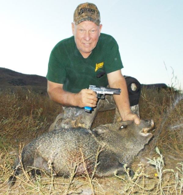 Carroll Pilant with javelina