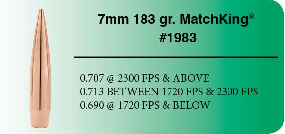7mm HPBT 183 gr. MatchKing