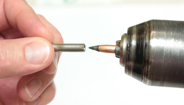 Chucking A 77 gr Bullet