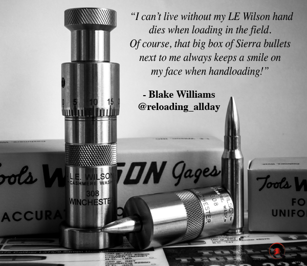 Wilson hand die arbor press Sierra Bullets